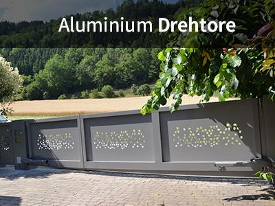 Aluminium Drehtore